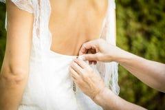 Het huwelijksdag van de huwelijkskleding Stock Foto's