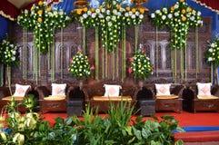 Het huwelijksdecoratie van Java - dekorasi pernikahan jawa Stock Foto's