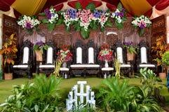 Het huwelijksdecoratie van Java - dekorasi pernikahan jawa Stock Foto