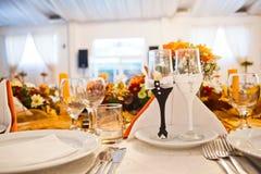 Het huwelijksglas van de luxe Stock Foto