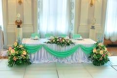 Het huwelijkslijst van de luxe Stock Fotografie