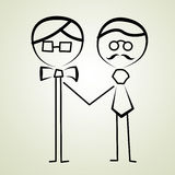 Het huwelijkspaar van homoseksuelen Stock Afbeelding