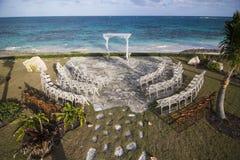 Het huwelijksplaats van de Bahamas, luchtmening Royalty-vrije Stock Fotografie
