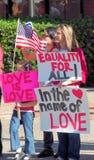 Het huwelijksprotest van het zelfde-geslacht Royalty-vrije Stock Foto's