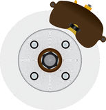 Het hydraulische Systeem van de Rem van de Schijf Stock Foto