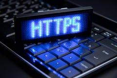 Het hyper Veilige Protocol van de Tekstoverdracht https royalty-vrije stock afbeelding