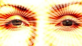 Het hypnotiseren van ogen naadloze lijn stock videobeelden