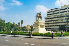 Het Ibrahim Pasha-standbeeld Royalty-vrije Stock Afbeelding