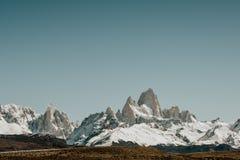 Het Iconische Onderstel FitzRoy bij Zonsopgang in Patagonië Argentinië stock foto's