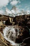Het Iconische Onderstel FitzRoy in Patagonië Argentinië royalty-vrije stock foto's