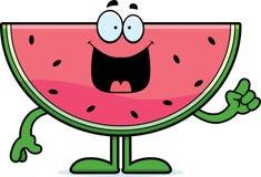 Het Idee van de beeldverhaalwatermeloen Stock Afbeeldingen