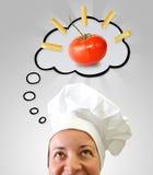 Het idee van de kok Stock Foto