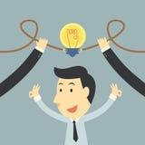 Het idee van de zakenmanvonk omhoog Royalty-vrije Stock Afbeeldingen