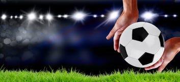 Het idee van het voetbalkampioenschap Concept stock foto