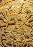 Het idool Durga Puja Festival Calcutta van godindurga Royalty-vrije Stock Fotografie