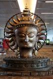Het idool van Boedha bij de T3 Terminal, IGIA-luchthaven Royalty-vrije Stock Foto