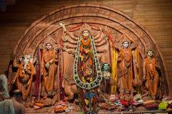 Het idool van godindurga, Puja-festival, Kolkata, India royalty-vrije stock afbeelding
