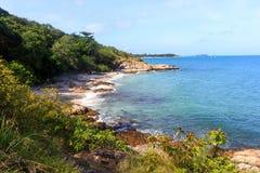 Het idyllische Strand van de Scène van Thailand Stock Fotografie