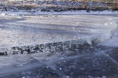 Het ijs behandelt ijs Stock Foto's