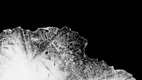 Het ijs die van de tijdtijdspanne hoog contrast smelten stock videobeelden