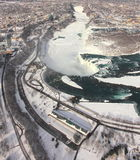 Het Ijs en de Macht van Niagara Royalty-vrije Stock Afbeeldingen