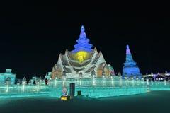 Het Ijs en de Sneeuwbeeldhouwwerkfestival 2018 van Harbin Internationaal Stock Afbeeldingen
