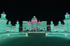 Het Ijs en de Sneeuwbeeldhouwwerkfestival 2018 van Harbin Internationaal Royalty-vrije Stock Foto