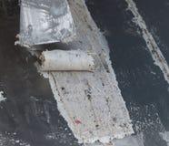 Het ijs rolt voorbereiding op een bevroren grill royalty-vrije stock afbeelding