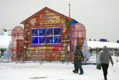Het ijs stelt tentoonstelling in Moskou voor Royalty-vrije Stock Foto