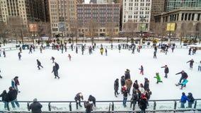 Het Ijs van Chicago het Schaatsen stock footage