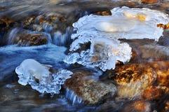 Het ijs van de de winterrivier Royalty-vrije Stock Afbeelding
