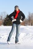 Het ijs van de vrouw het schaatsen royalty-vrije stock afbeeldingen