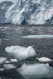 Het ijs van Glacer in oceaan stock foto