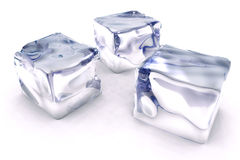 Het ijs van kubussen Royalty-vrije Stock Fotografie