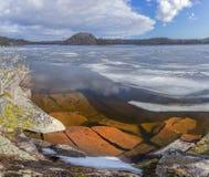 Het ijs van Ladoga Stock Afbeeldingen