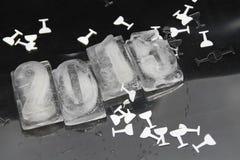 het ijsblokje van 2015 Stock Foto's