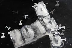 het ijsblokje van 2015 Stock Foto