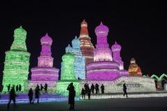 Het ijsfestival van Harbin Stock Afbeelding