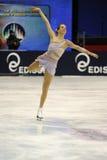 Het ijsschaatser van de Kampioen van Carolina Kostner 2011 Italiaanse Stock Foto