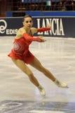 Het ijsschaatser van Valentina Marchei bij het Feest van het Ijs van 2010 Royalty-vrije Stock Afbeeldingen