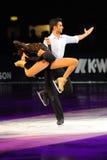 Het ijsschaatsers van Lorenza Alessandrini-Simone Vaturi Royalty-vrije Stock Fotografie
