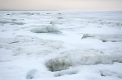 Het ijssea.white ijs van de winter Stock Afbeeldingen