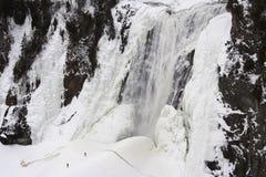 Het ijswaterval van Montmorency Stock Afbeeldingen
