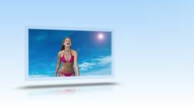 Het ijveren voor die montering van het bikinilichaam stock footage