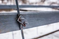 Het ijzer zet brug op Stock Afbeeldingen
