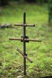 Het Ijzerkruis op een graf Royalty-vrije Stock Afbeelding