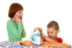 Het ijzerlinnen van kinderen Stock Afbeelding