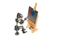 Het ijzerstuk speelgoed van de schilder   Stock Foto's