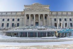 Het ijzige Museum van Brooklyn Stock Fotografie