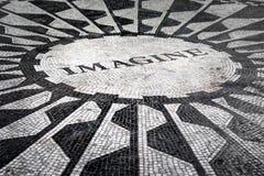 Het Imagine mozaïek in Strawberry Fields in Central Park, NY Royalty-vrije Stock Foto